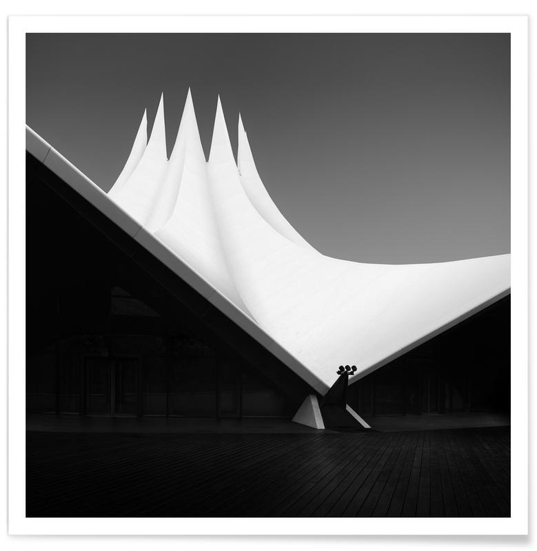 Schwarz & Weiß, Reise, Architekturdetails, Abstrakte Landschaften, A Black Symphony I   Berlin 2020 -Poster