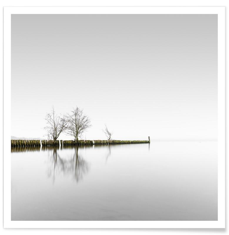 Architectural Details, Abstract Landscapes, Black & White, Travel, Distant On A Solitary Day | Schwielowsee 2021 Poster
