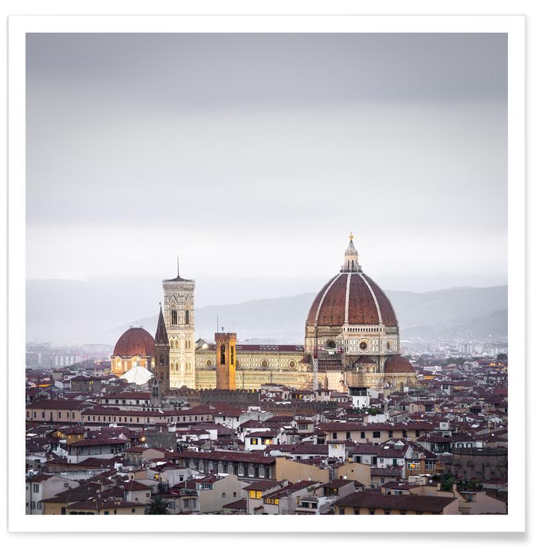 Abstracte landschappen, Zwart en wit, Architectonische details, Reizen, Firenze Study 2   Florenz 2019 poster