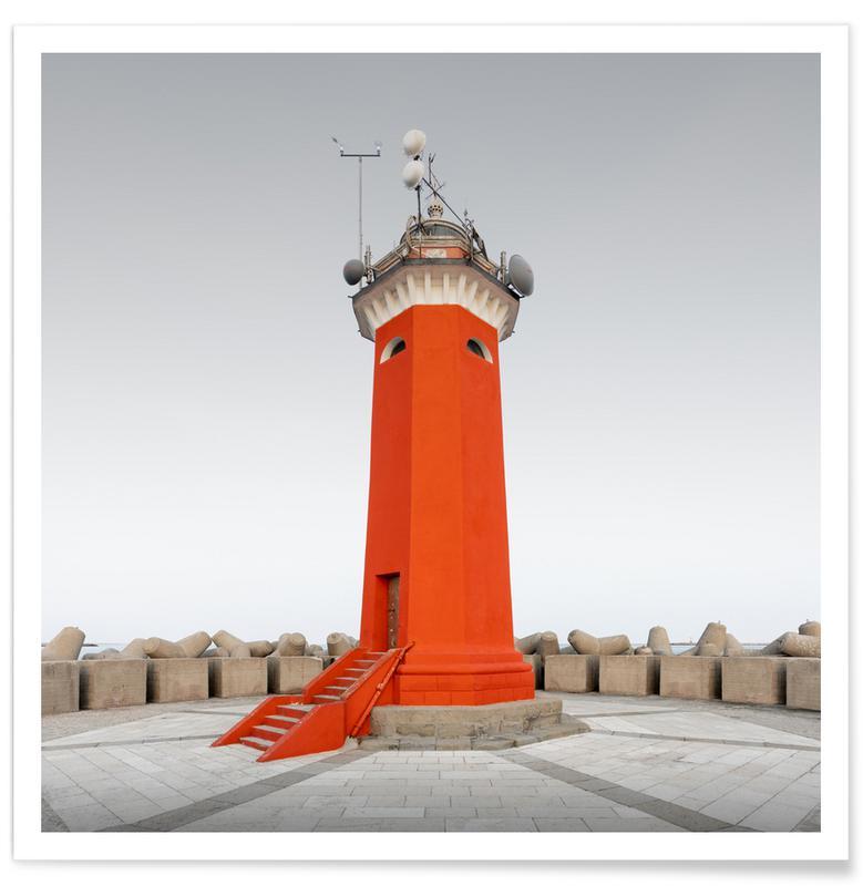 Schwarz & Weiß, Reise, Architekturdetails, Abstrakte Landschaften, Faro Di Venezia | Lido 2020 -Poster