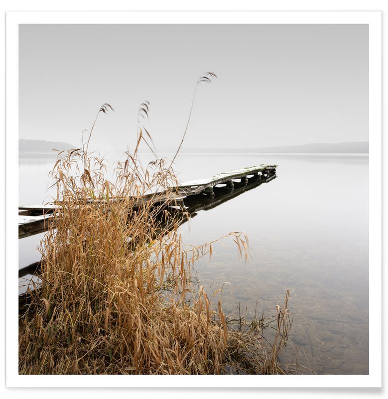 Paysages abstraits, Voyages, Noir & blanc, Détails architecturaux, Empire Of The Lake | Schwielowsee 2021 affiche