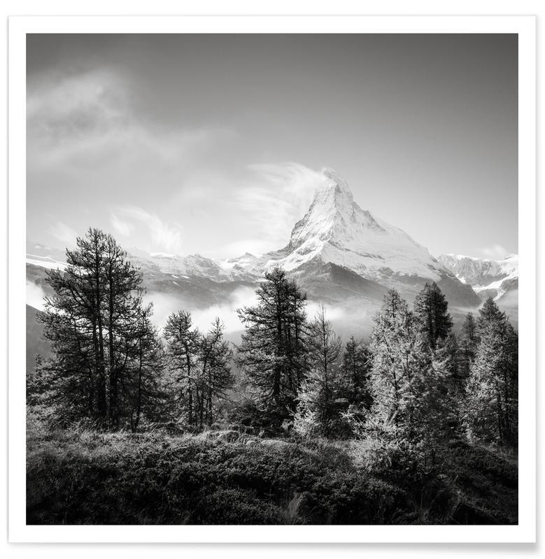 Détails architecturaux, Paysages abstraits, Matterhorn | Schweiz 2014 affiche