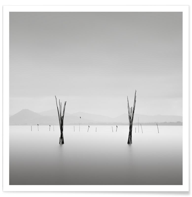 Black & White, Ocean, Lake & Seascape, Umbria The Gate Poster