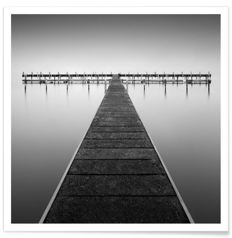 Ponts, Océans, mers & lacs, Noir & blanc, Empty Berlin affiche