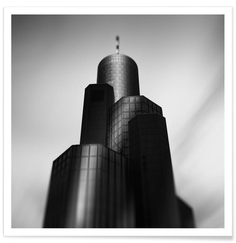 Black & White, Skyscrapers & High-Rises, Morgul, Frankfurt am Main Poster