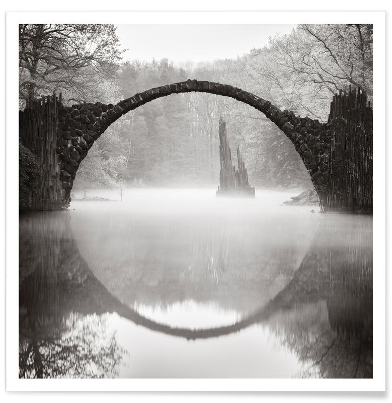 Ponts, Océans, mers & lacs, Brandenburg - Rakotzbrücke affiche