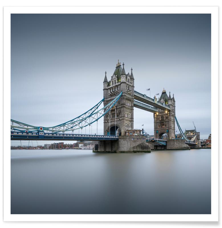 Ponts, Monuments et vues, Londres, London - Tower Bridge affiche