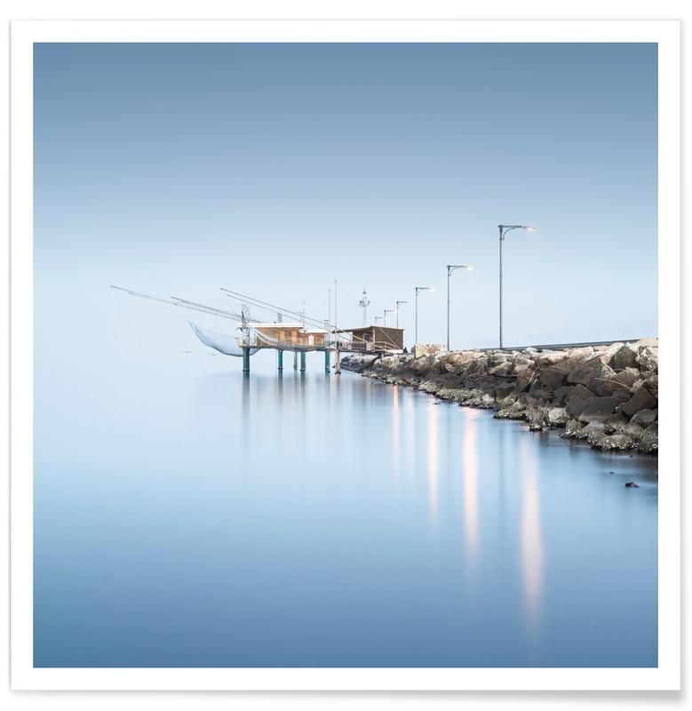 Brücken, Ozeane, Meere & Seen, Sehenswürdigkeiten & Wahrzeichen, Italy - Porto Garibaldi -Poster