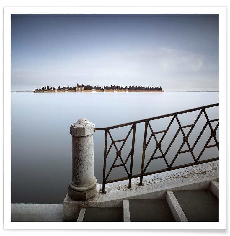 Ocean, Lake & Seascape, Venice, Sights & Landmarks, Venedig - Cimitero di San Michele Poster