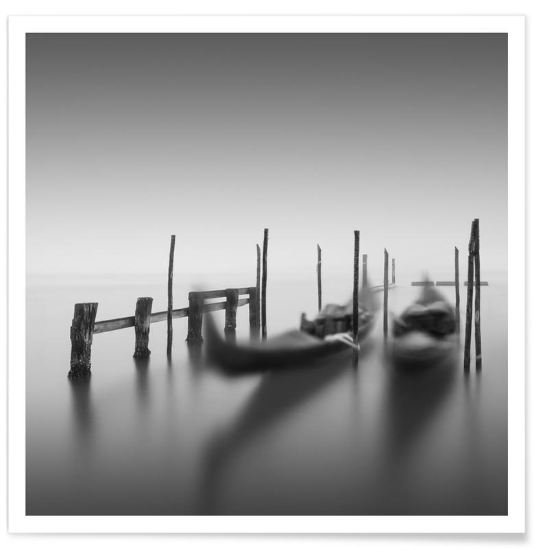 Ocean, Lake & Seascape, Black & White, Venice, Venezia - Legato Poster