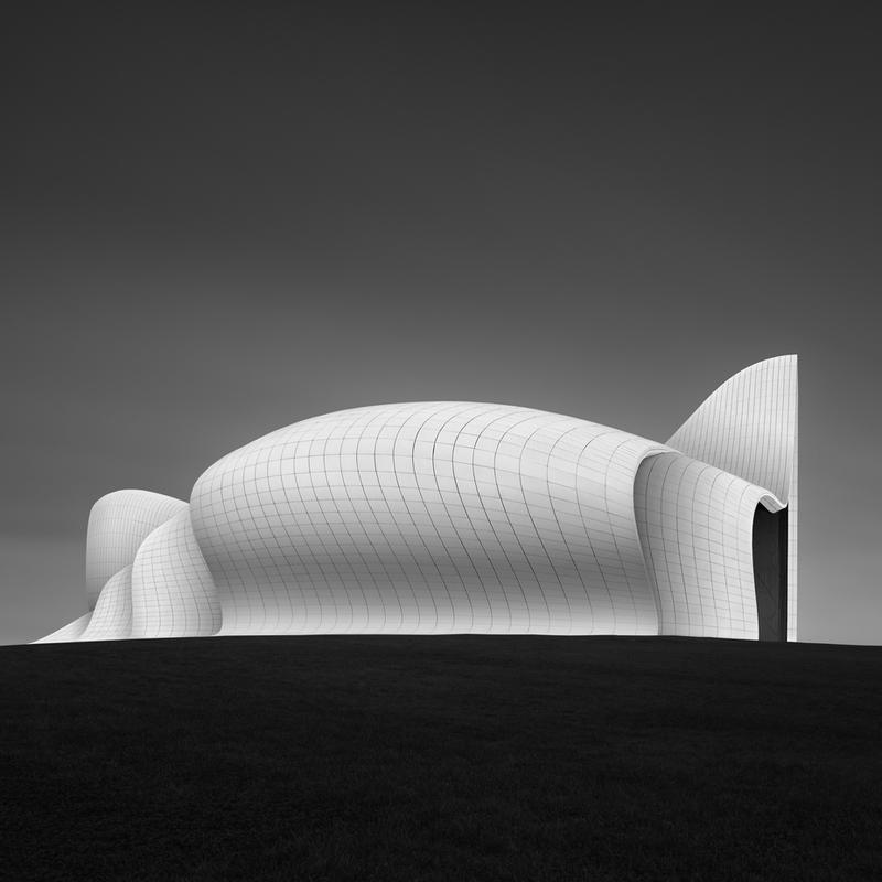 Baku -  Heydar Aliyev Center 2 tableau en verre