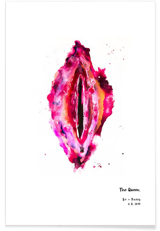 Körperformen, Vulva Painting All Colors United -Poster