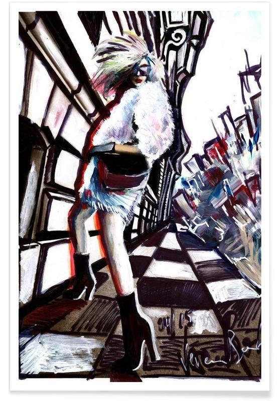 Portraits, Street Art Style, Movement Poster