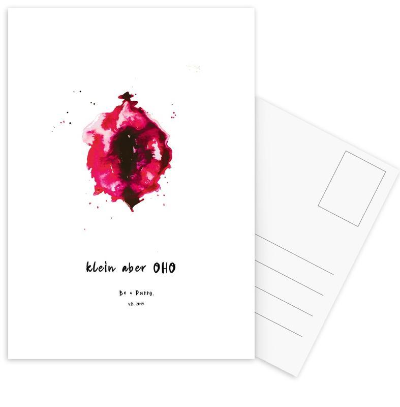 Körperformen, Vulva Painting Smal But Great Red -Postkartenset