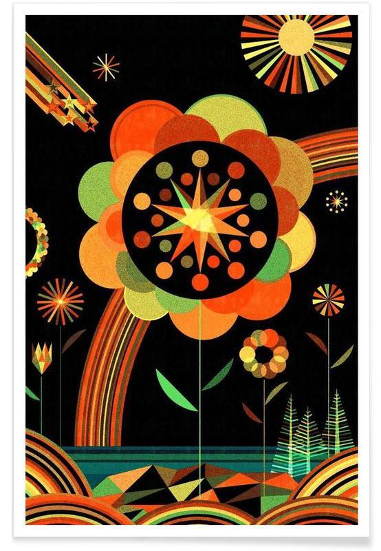 Kinderzimmer & Kunst für Kinder, Joy Scape -Poster