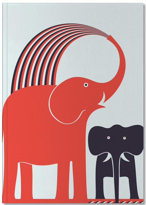Olifanten, Kunst voor kinderen, Red Elephant Notebook