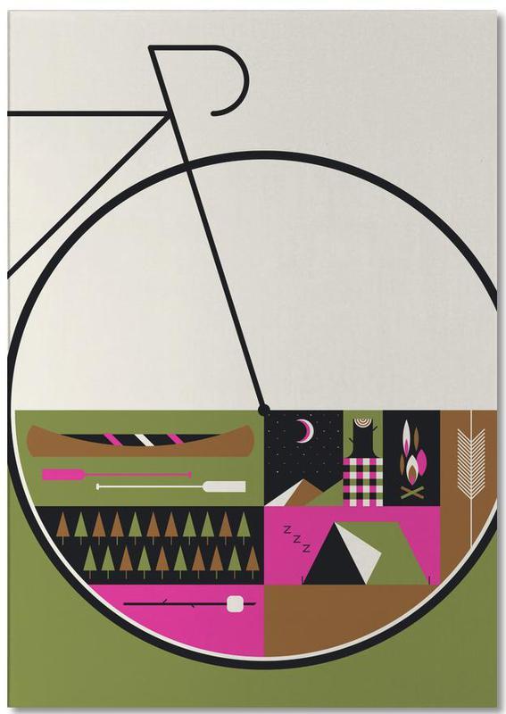 Fahrräder, Camp Vibes -Notizblock