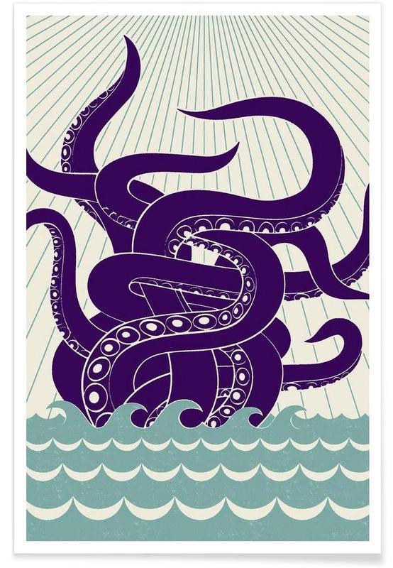 Bläckfiskar, Sea Monster Poster