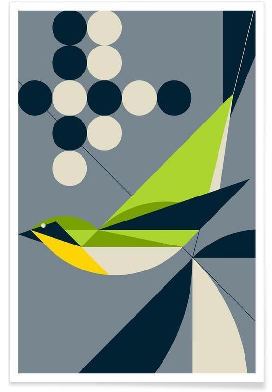 Retro, Warbler poster
