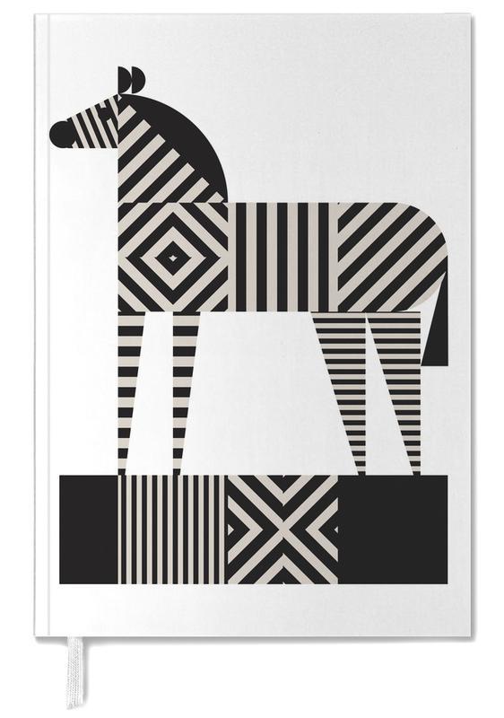 Black & White, Zebras, Zebra Stripe Personal Planner