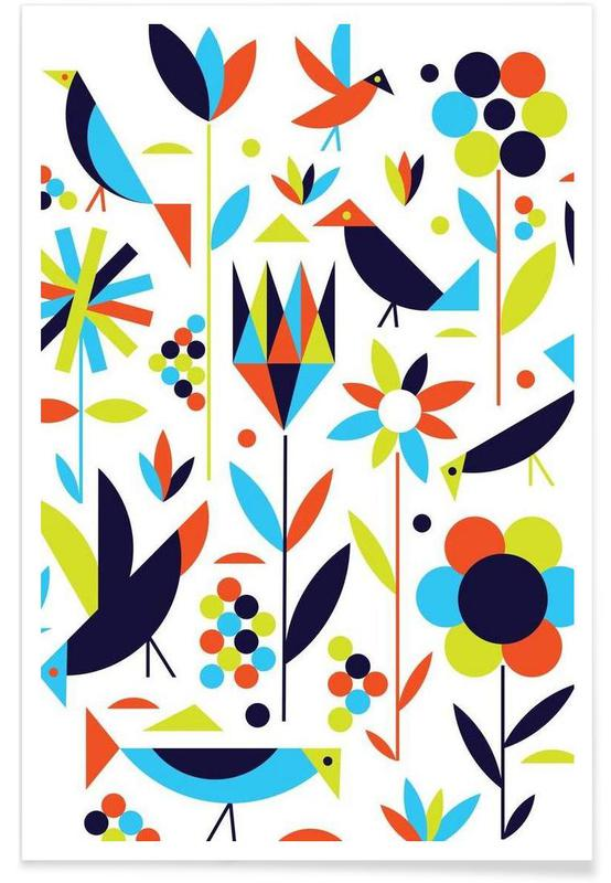 Bird and Flower Poster