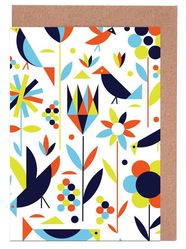 , Bird and Flower Greeting Card Set