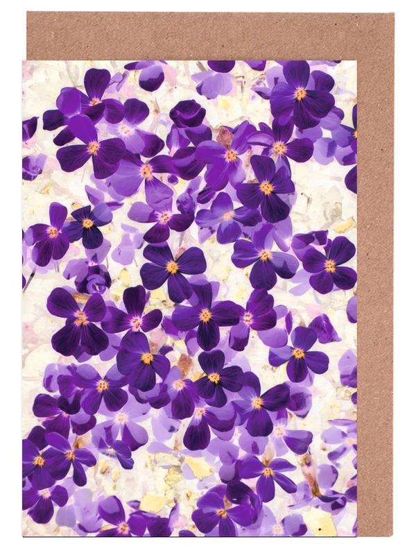 Violet Bloom -Grußkarten-Set
