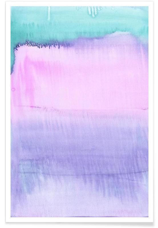 , Watercolour Pastel Poster