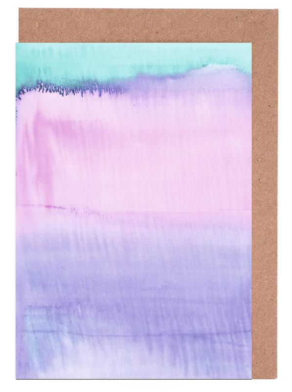 Watercolour Pastel -Grußkarten-Set