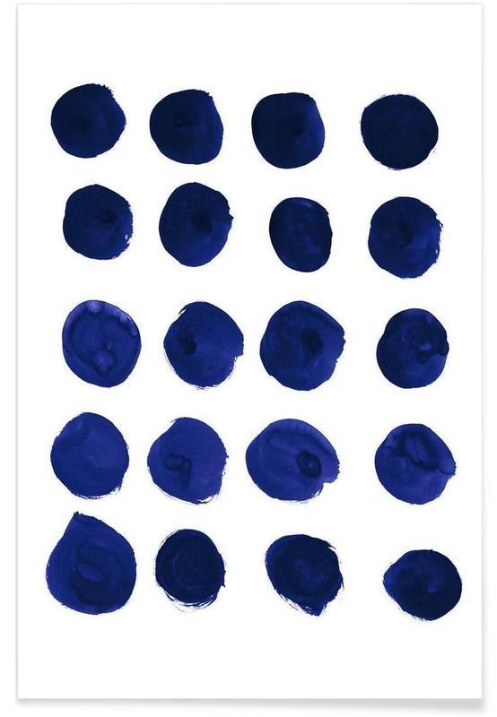Patterns, Blue Dots Poster