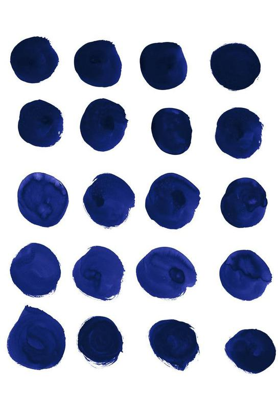 Blue Dots Aluminium Print