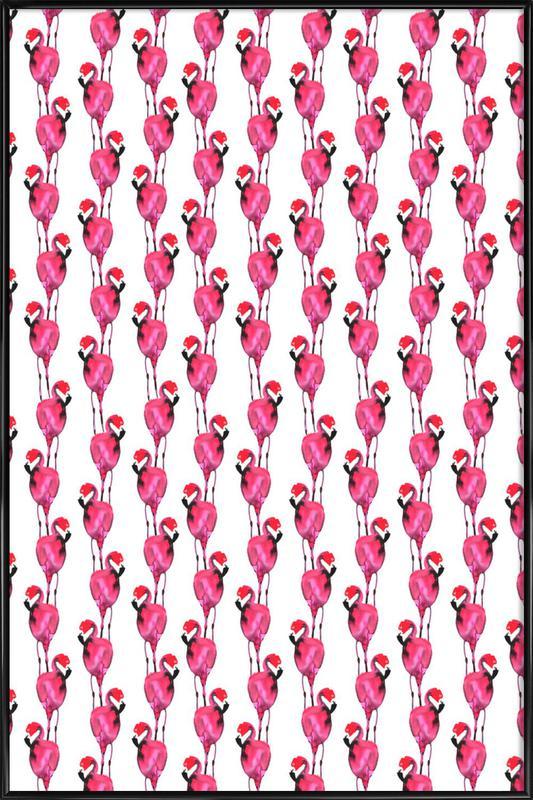 Flamingo II ingelijste poster