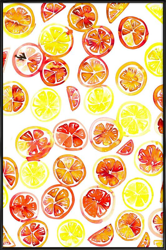Orange Slice -Bild mit Kunststoffrahmen