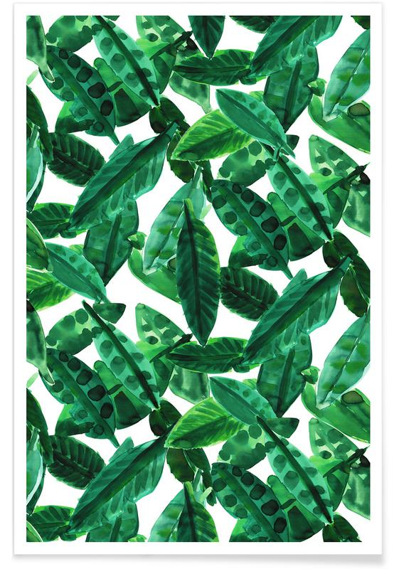 Leaves & Plants, Small Palm Leaves Poster