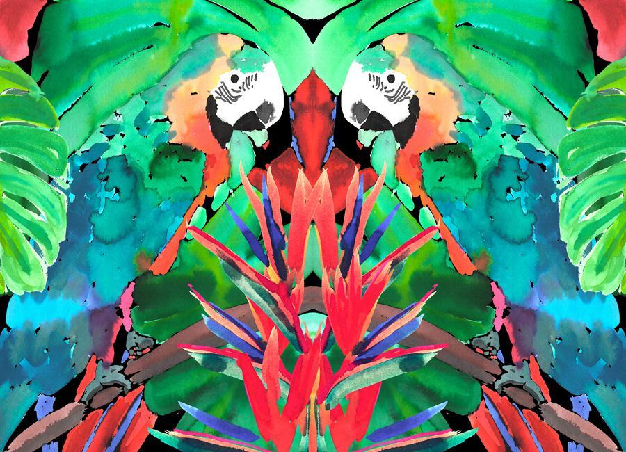Parrot canvas doek