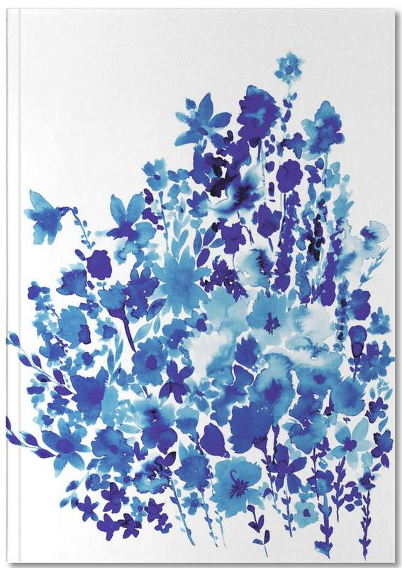 Floral Blue Notebook