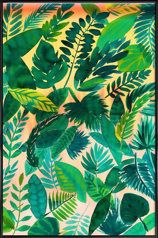 Jungle Leaf affiche encadrée