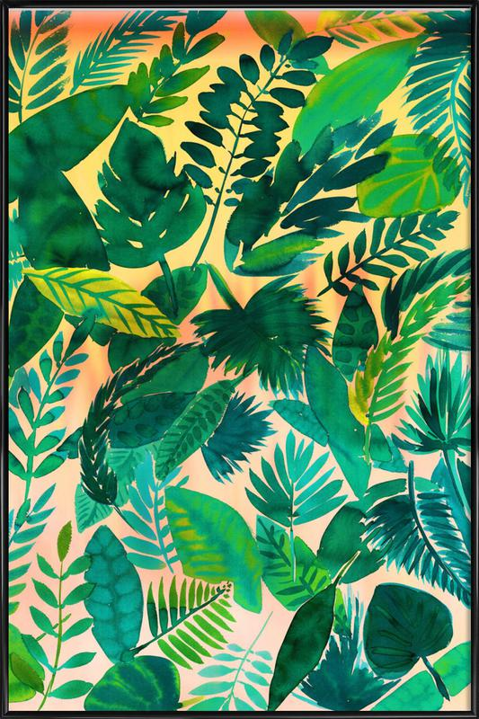 Jungle Leaf Framed Poster