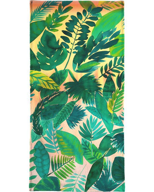 Jungle Leaf Bath Towel Juniqe