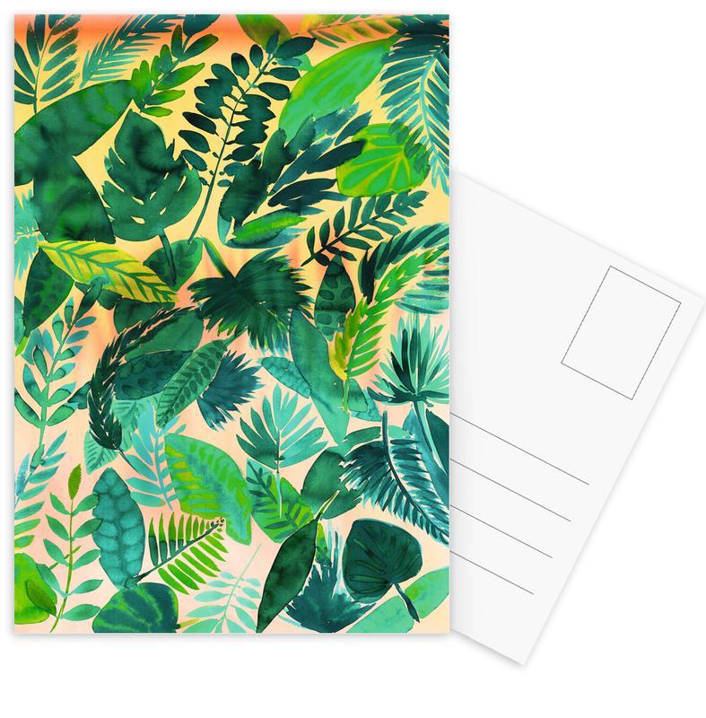 Bladeren en planten, Jungle Leaf ansichtkaartenset