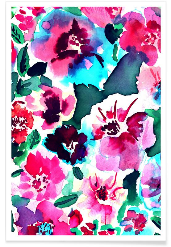 , Zoe Floral Pink Poster