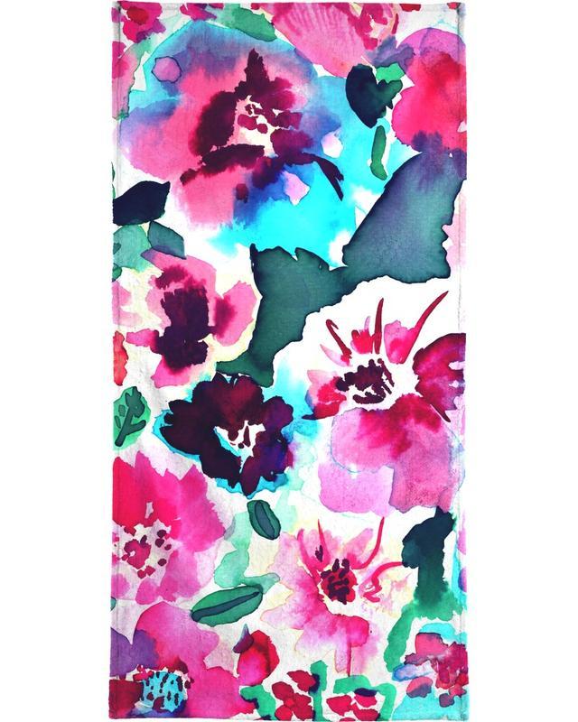 Zoe Floral Pink -Handtuch
