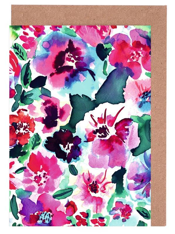 Zoe Floral Pink -Grußkarten-Set