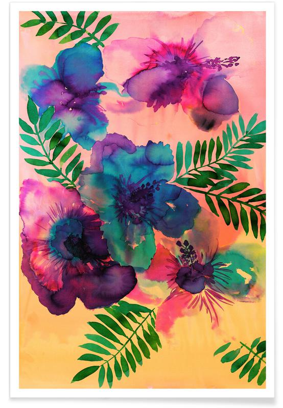Skye Hibiscus Floral affiche