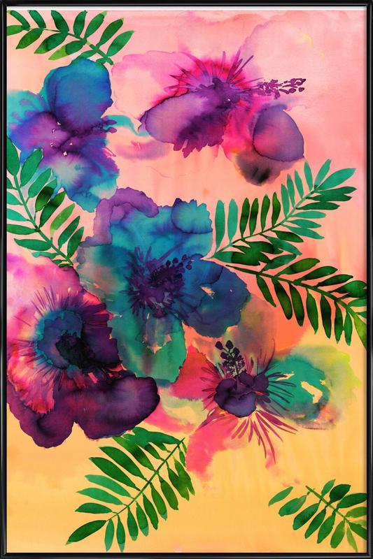 Skye Hibiscus Floral ingelijste poster