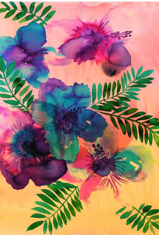 Skye Hibiscus Floral Acrylic Print