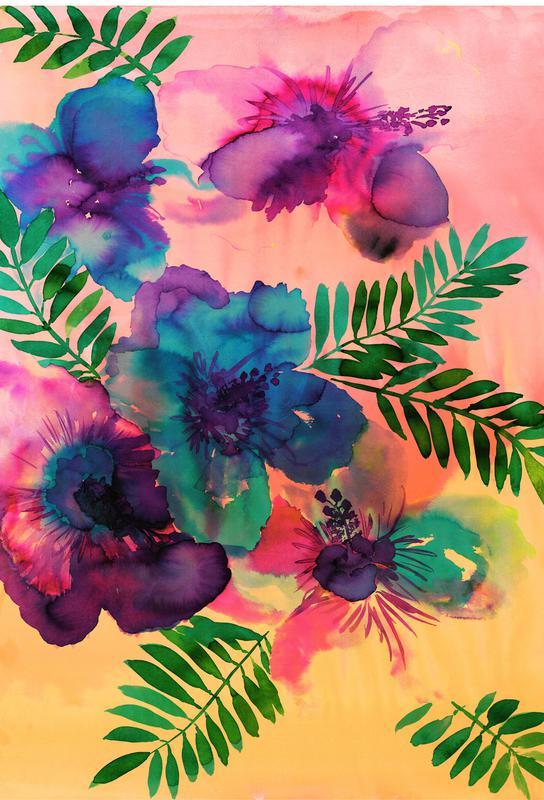 Skye Hibiscus Floral Aluminium Print