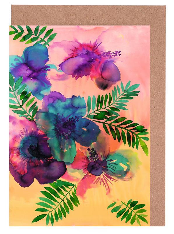 , Skye Hibiscus Floral Greeting Card Set