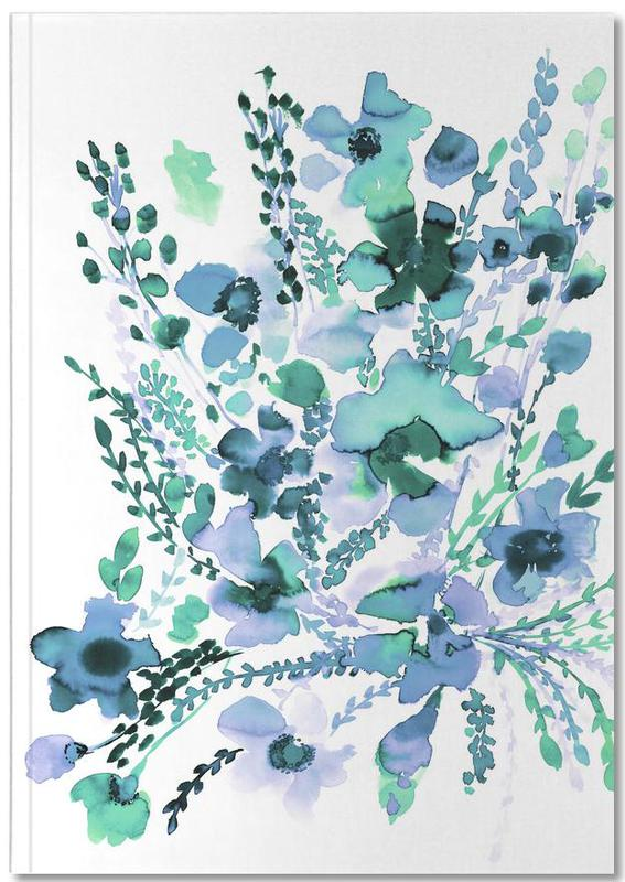 Amelia Floral Blue Green Notebook
