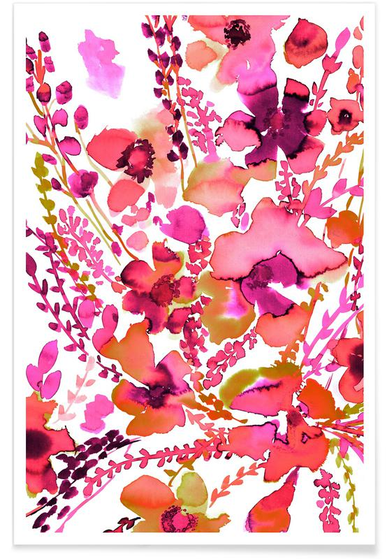 , Amelia Floral Pink Poster